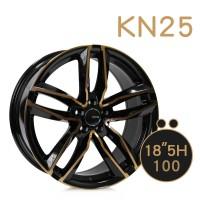 KN-25 鋁圈 18吋8J 5孔 PCD100 黑底古銅
