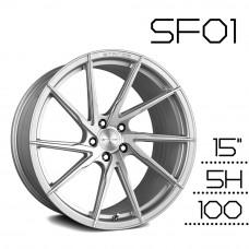 SF01 鋁圈 15吋6.5J 5孔 PCD100 銀